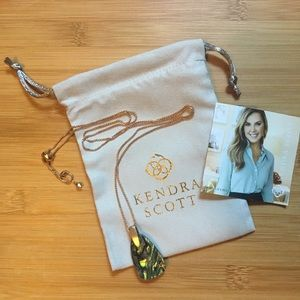 Kendra Scott Rose Gold Pendant Necklace / Abalone